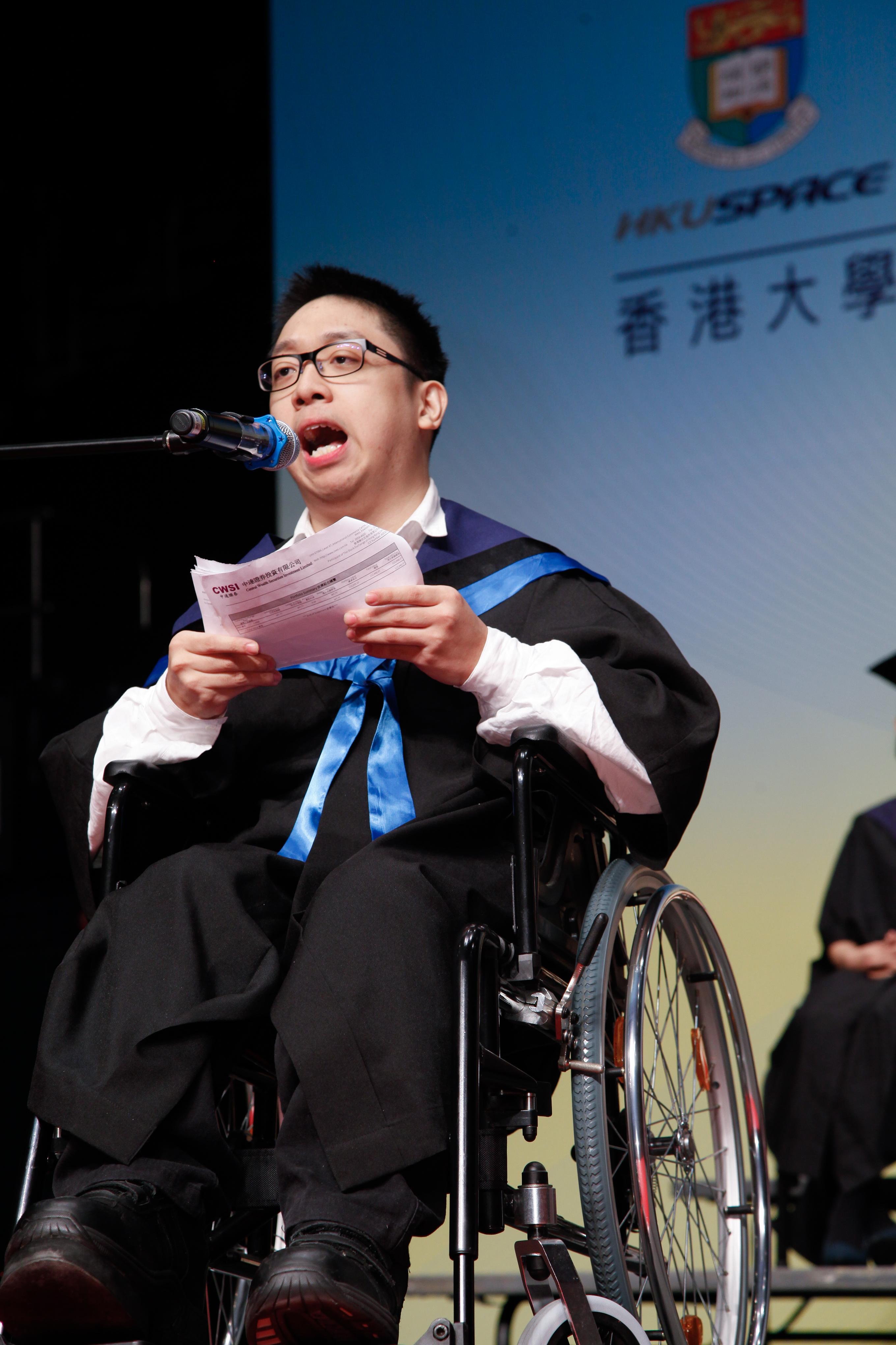 高級文憑畢業, 對尚賢除了是一份肯定, 對他來說更是未來前途的一份保障。(由受訪者提供)