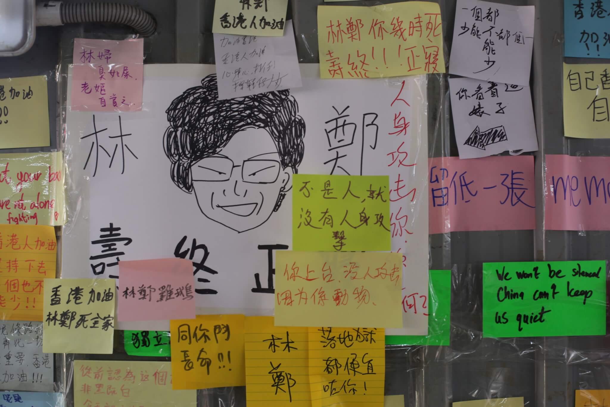 除了文字,畫作亦是市民表達訴求的工具。