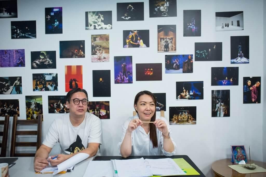 愛麗絲戲場實驗室藝術總監陳恆輝(左)和行政總監陳瑞如(右)