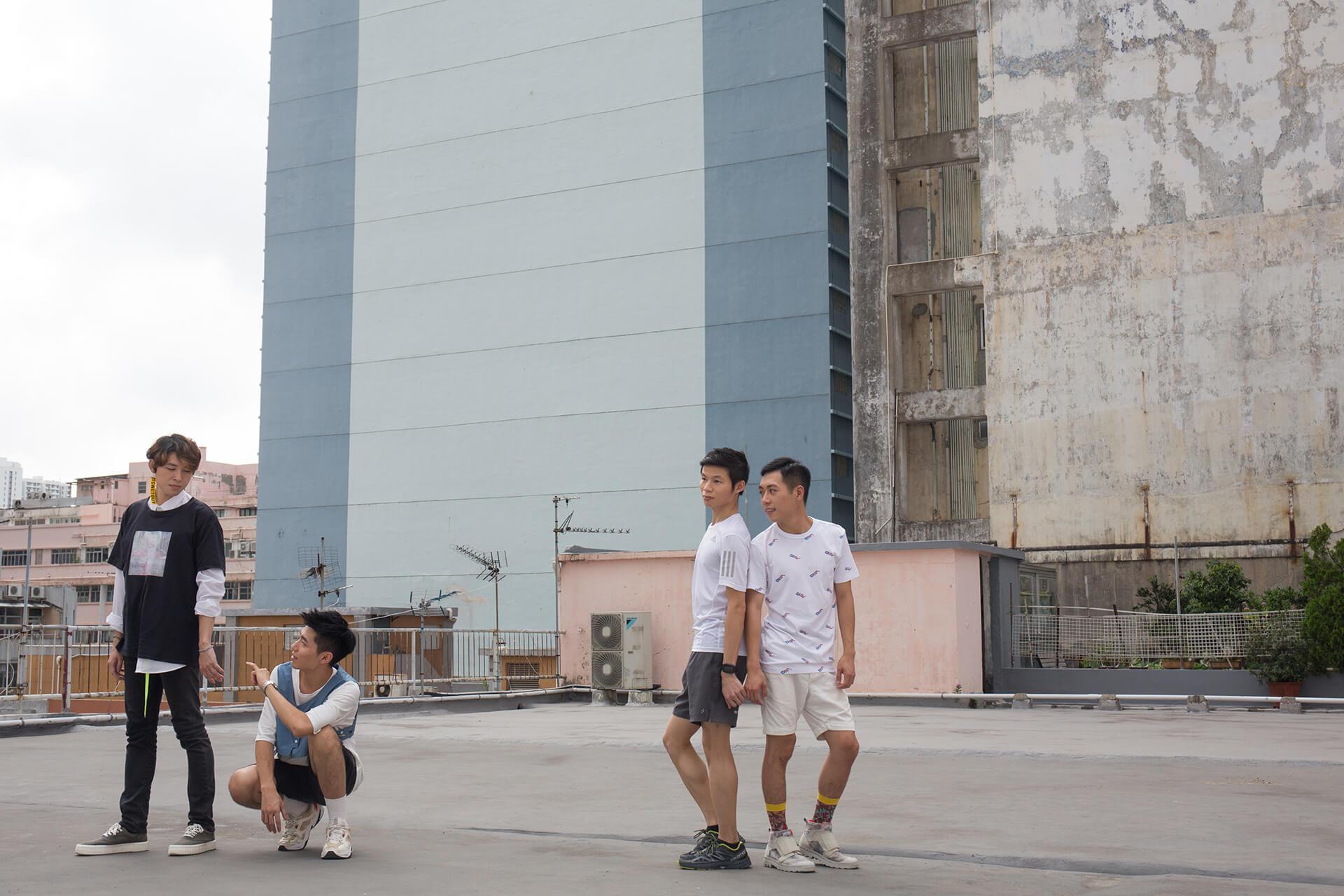 (左起)楊銘、Anderson、Ming及Tristan是《Boys》的演員,分別飾演兩對情侶。
