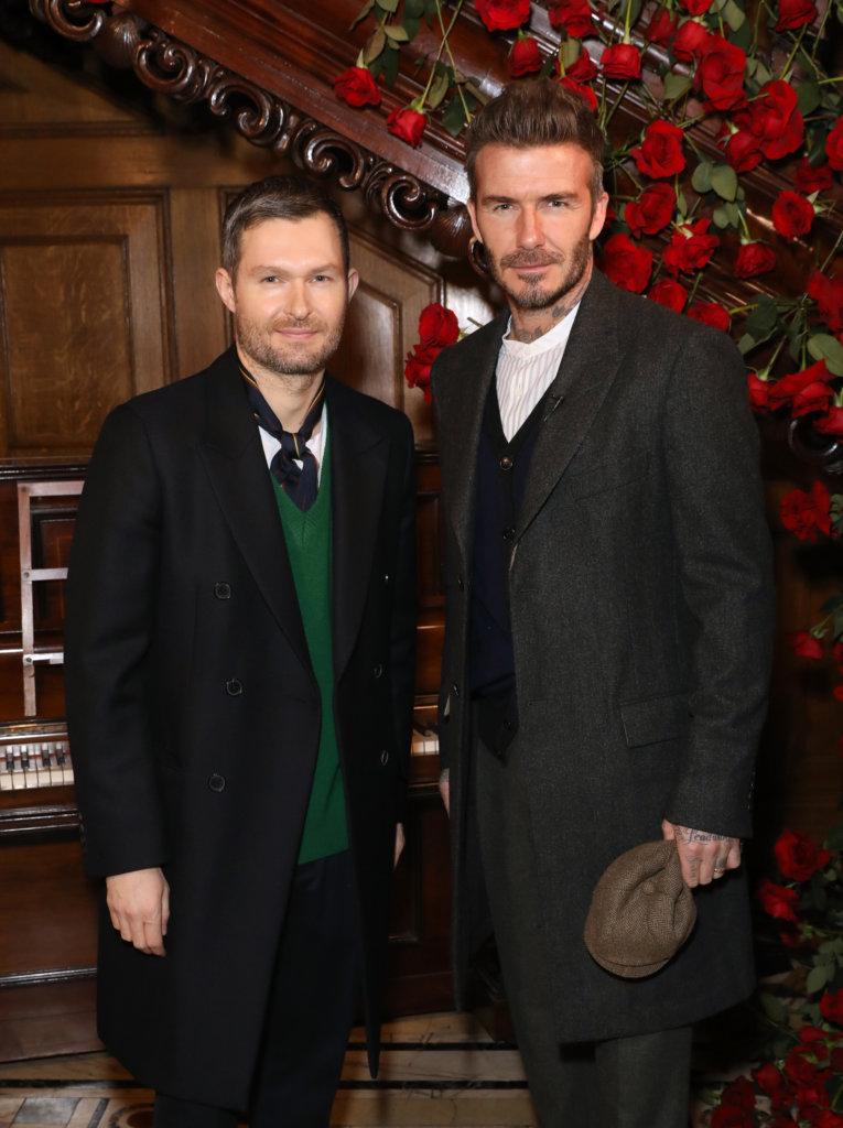 Kent & Curwen 創意總監Daniel Kearns與 David Beckham。