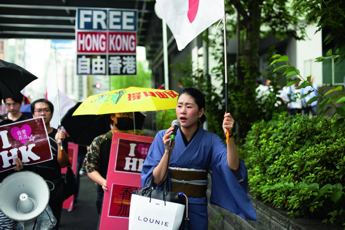 平野鈴子對香港出現二百萬人遊行,而政府仍然可以不下台、不撤回,感到難以置信。