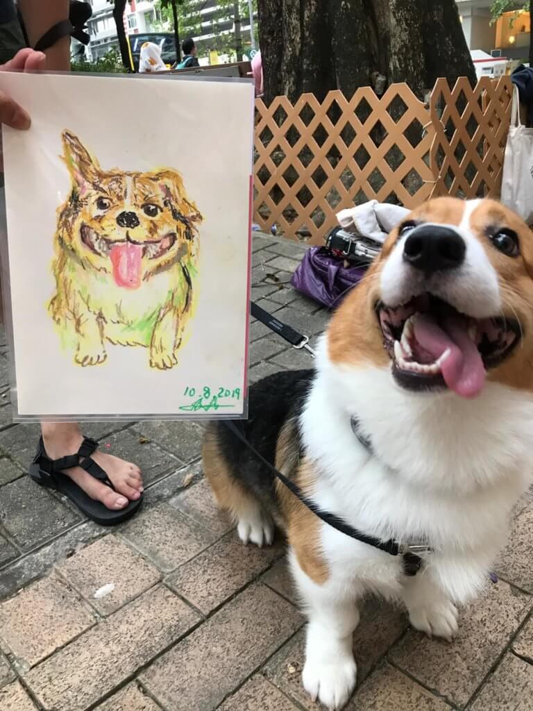 10.跑馬地欠缺供寵物活動的公共空間,於是Clara籌辦寵物肖像日,讓人和寵物有共聚的機會。