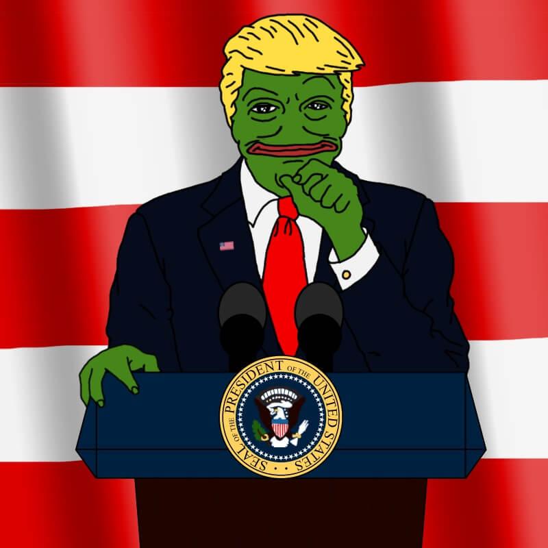 Pepe被特朗普利用成宣傳工具(twitter)