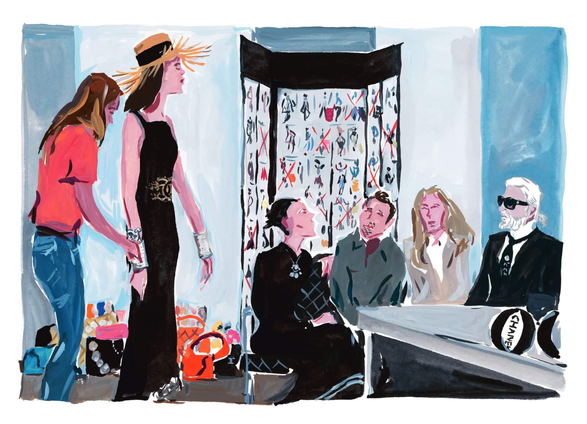 著名畫家Jean-Philippe Delhomme擅長馬克筆的技法,以細膩的水彩繪畫Chanel的故事。