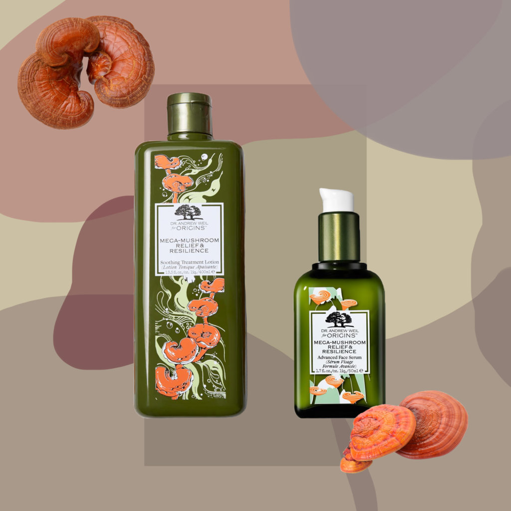 MEGA-MUSHROOM RELIEF & RESILIENCE: SOOTHING TREATMENT LOTION $320 ADVANCED FACE SERUM $680