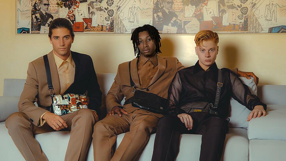 Fendi今季首次推出男裝Baguette,為經典賦予新的意義。