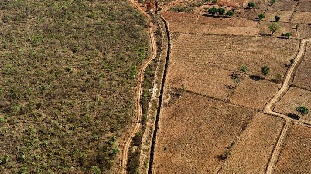 保護區與村莊之間,只相隔一條不太中用的深溝。