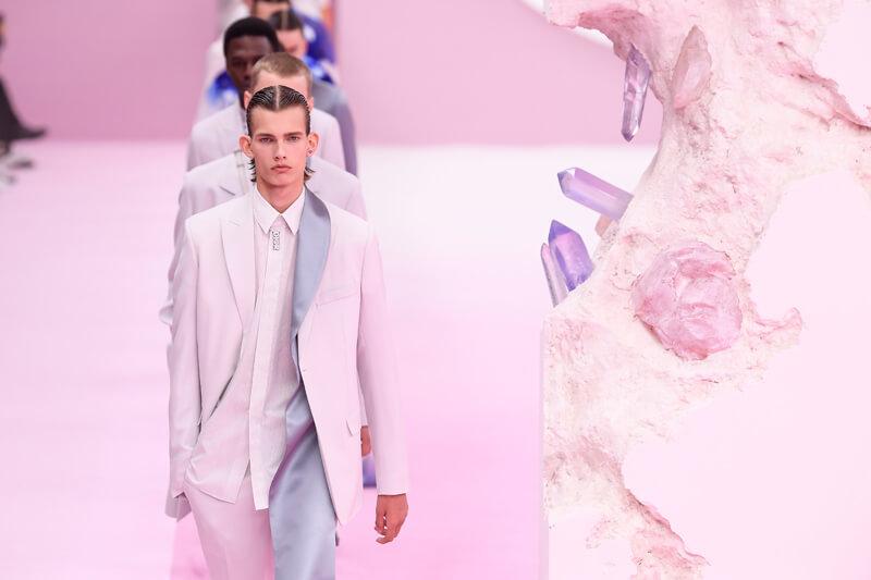 Mandatory Credit: Photo by WWD/Shutterstock (10311856ba) Models on the catwalk Dior Men show, Runway, Spring Summer 2020, Paris Fashion Week Men's, France - 21 Jun 2019