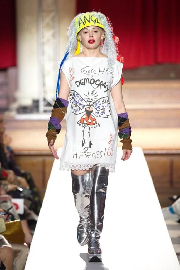 被#Me Too的Rose McGowan為西太后擔任FW19的2模特兒