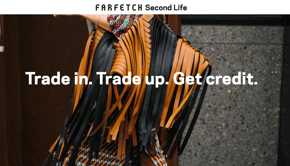 英國Farfetch姊妹網站(secondlife.farfetch.com)今年推出以舊手袋換取積分,再於網店購入新品的營銷方式
