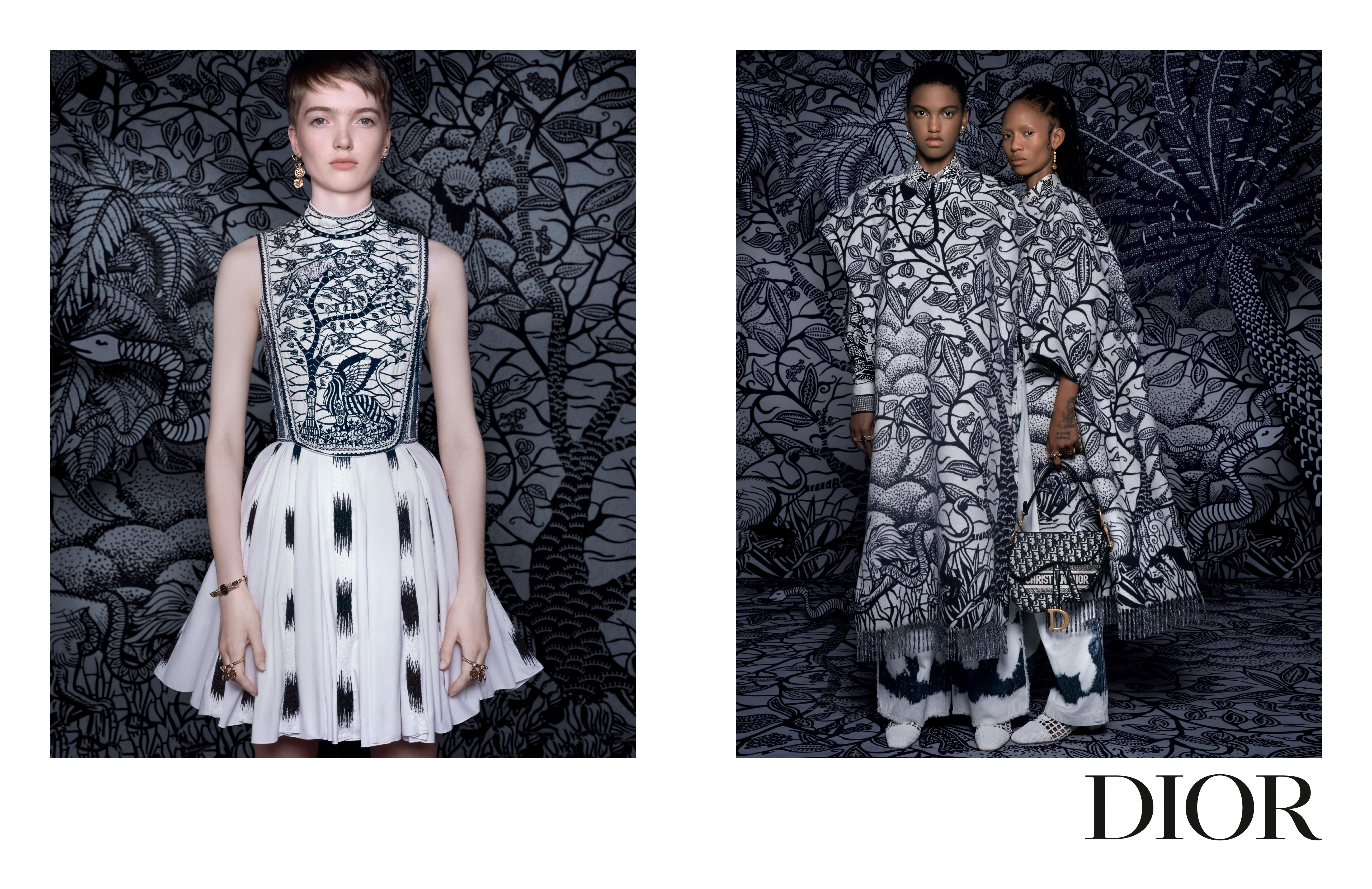 Dior早春系列廣告由攝影師 Brigitte Niedermair操刀,表現出品牌的迷人神韻。