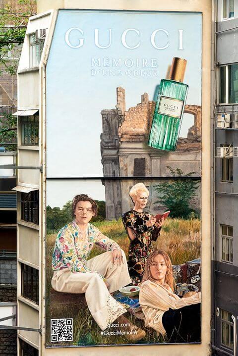 位於香港的Gucci藝術牆