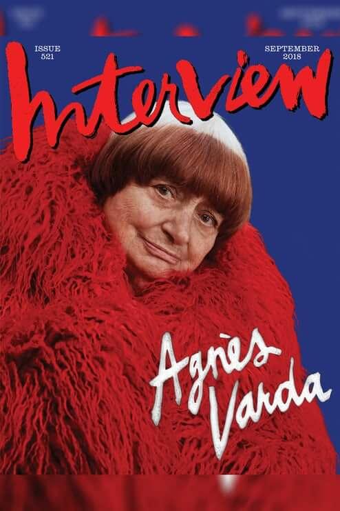 《Interview》去年突然復刊,找來90歲法國神級製片人Agnès Varda(倒刊號封面人物)再次感擔當封面主角。