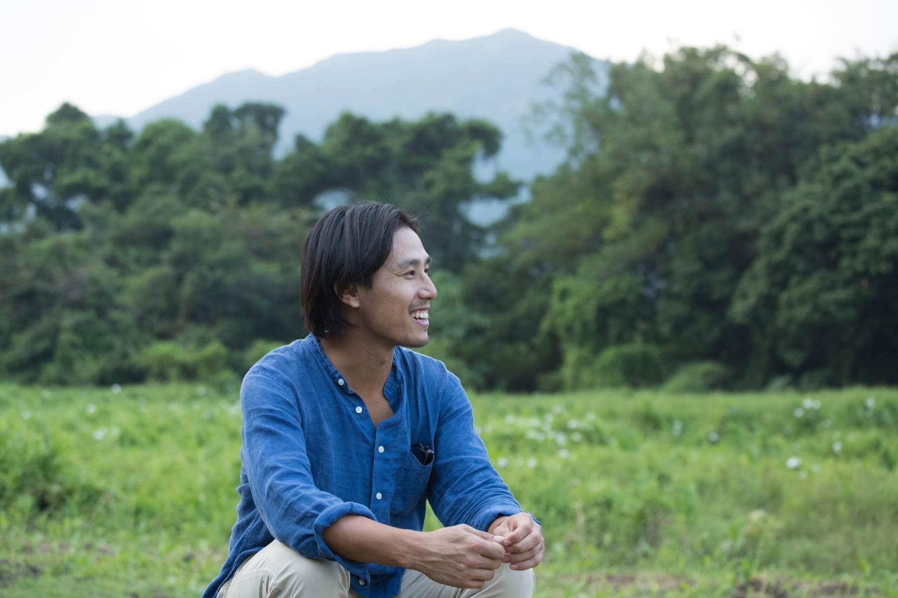 胡應手為本地農夫,現於大埔林村開展「大地予我」項目,復耕香港稻米。