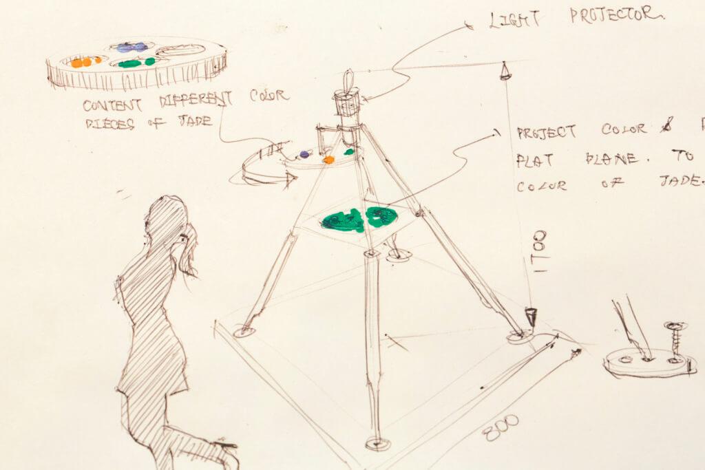 「玉儀」的設計圖,每個部分都要計算得十分精準。