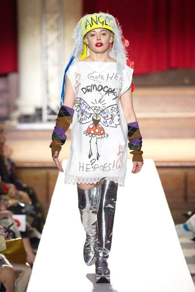 被#Me Too的Rose McGowan為西太后擔任FW19的模特兒