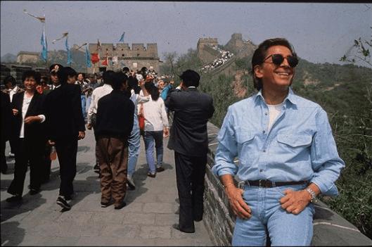 Valentino Garavani先生到訪中國