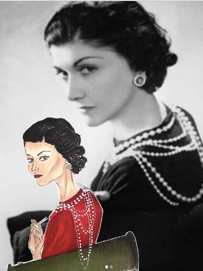 Maria早前為《明周》SS2020時裝周特刊繪畫設計師