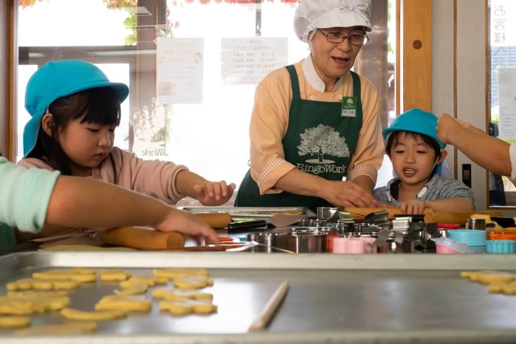 在坂柳町的果汁工場設有不同的工作坊,讓小朋友、遊客體驗。