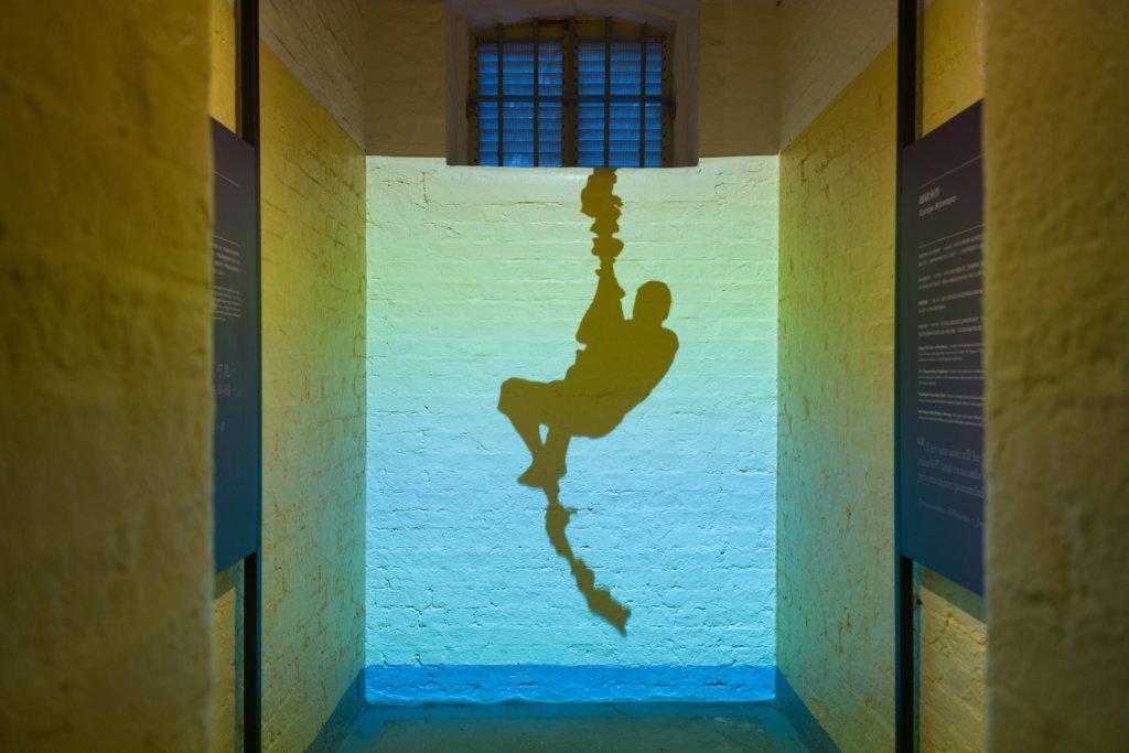 前域多利監獄囚倉活化成展覽空間,呈現舊日鐵窗生涯。