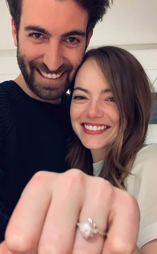 Emma Stone今天宣布與交往兩年的男友Dave McCary訂婚
