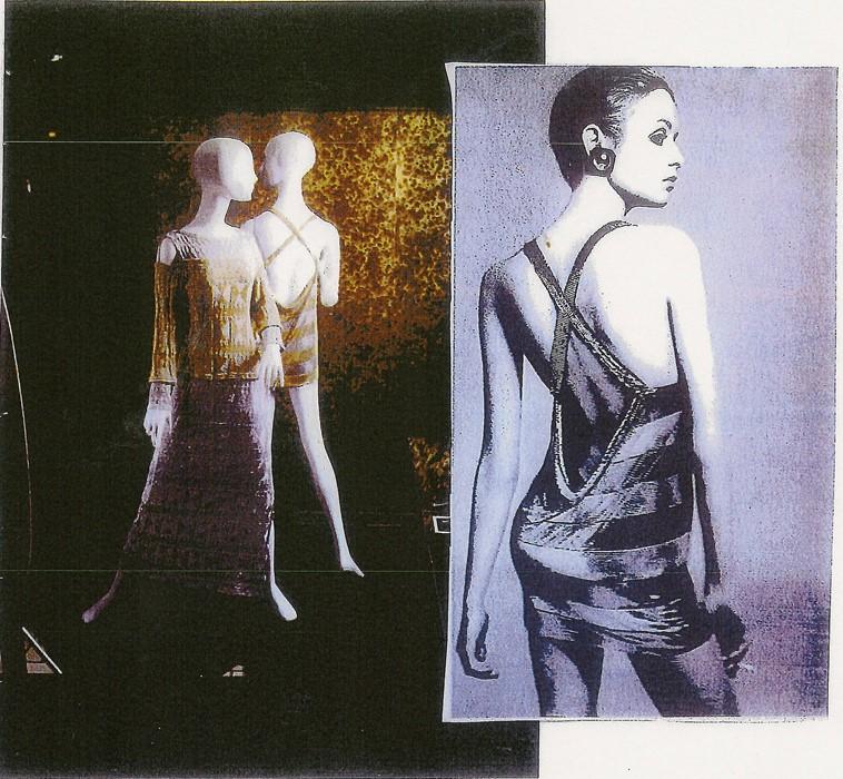 當年Twiggy當年登上《Vogue》所穿過的一條金屬色迷你裙,Twiggy也是因為看到有關Schreier的文章,決意親身送她這條裙子。