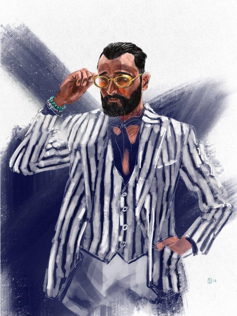 時裝插畫師@sunflowerman不時上載Pitti Uomo的插畫,以畫筆記錄男士正裝多年來的演變,甚有教學意義。