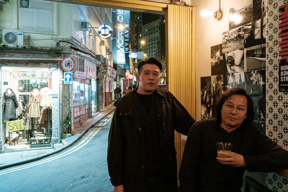 林敬豪(Kinho)(左)和Joe Lee(右),皆是攝影組織「Ménos 心象社」成員。Ménos由一群攝影愛好者組成,會不定期舉辦不同攝影相關活動。