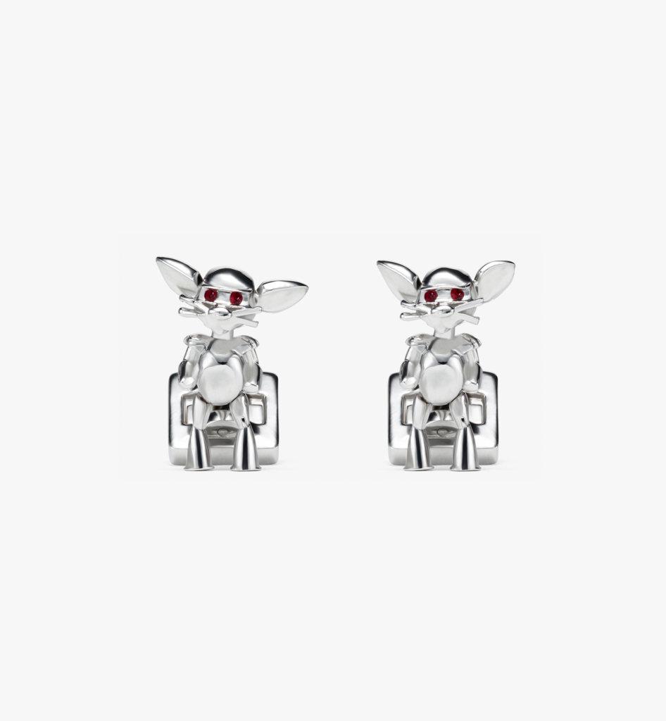 Robot Mouse 袖扣 (銀色) HKD2,600