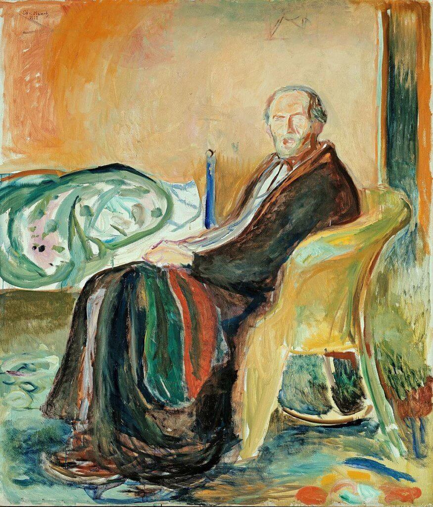 《自畫像和西班牙流感》(1919)