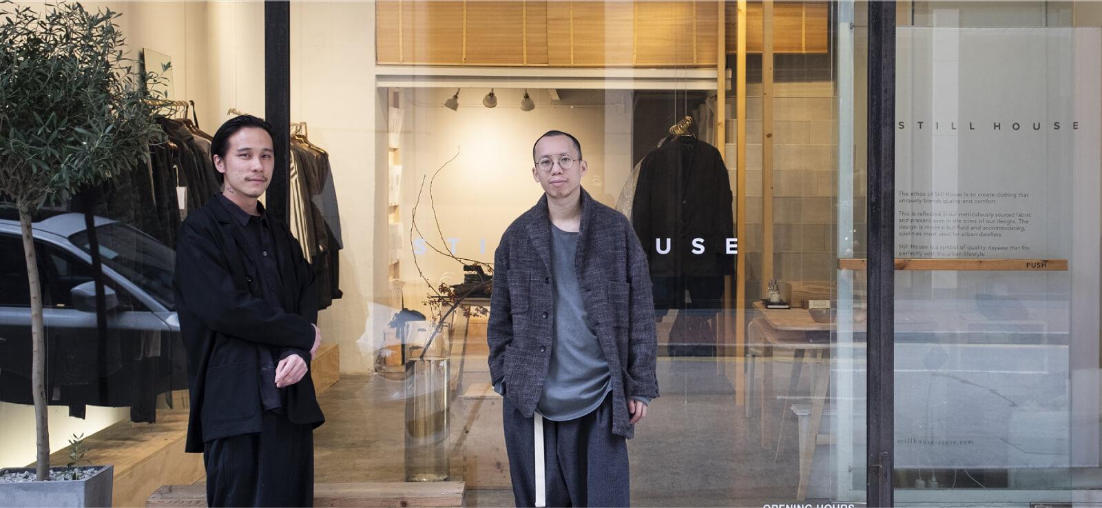 STILL HOUSE主理人阿苗(右)和Jae(左),二人對衣服與生活的關係有共同的理念與看法。