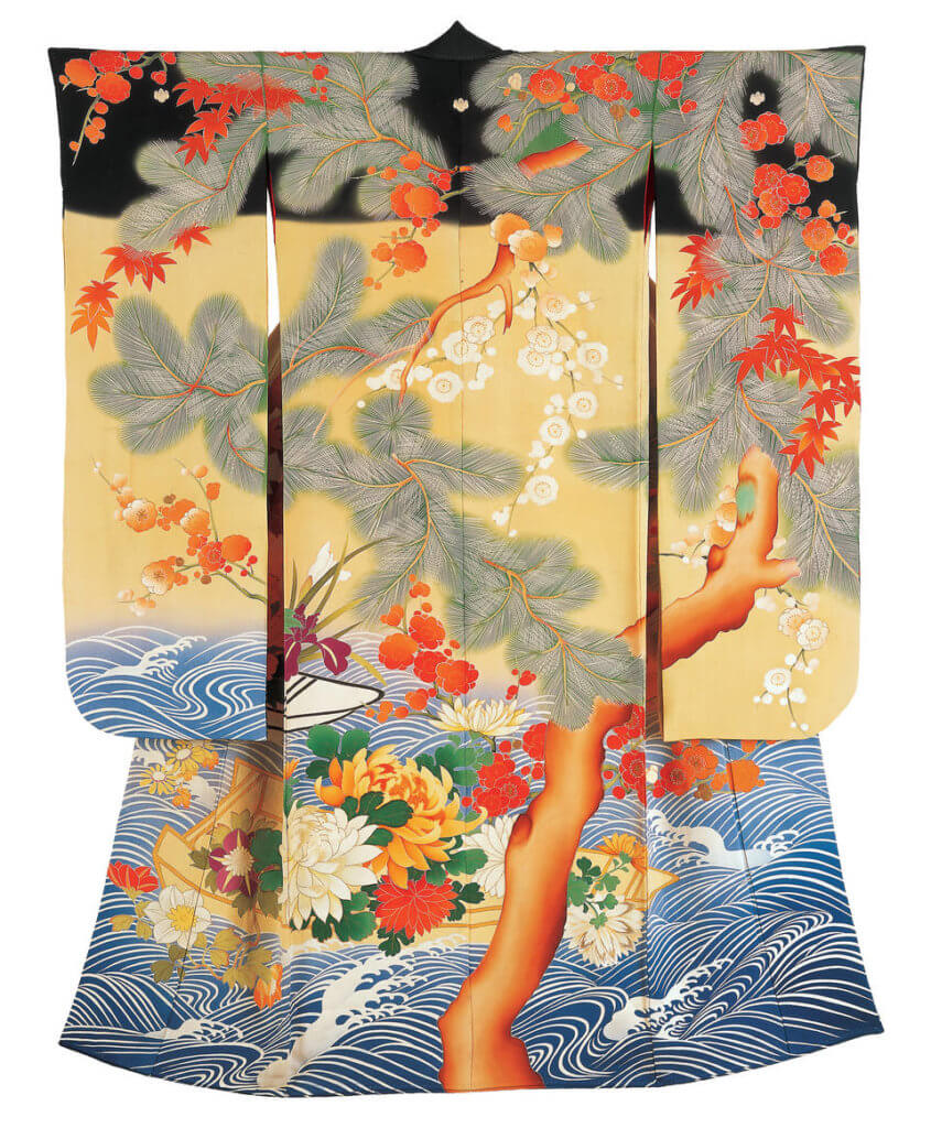 Kimono for a young woman (furisode), 1905–20, probably Kyoto, Japan. © Khalili Collection, K106