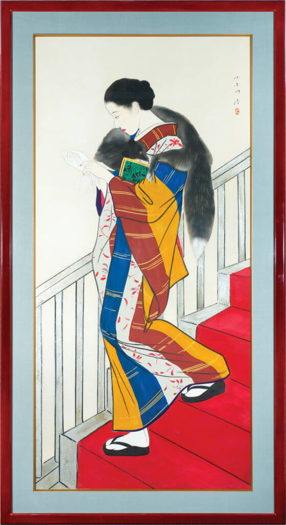'Kaidan' ( staircase), hanging scroll, by Kobayakawa Kiyoshi, 1935, Japan. © Image Courtesy of the Robert Levenson Collection