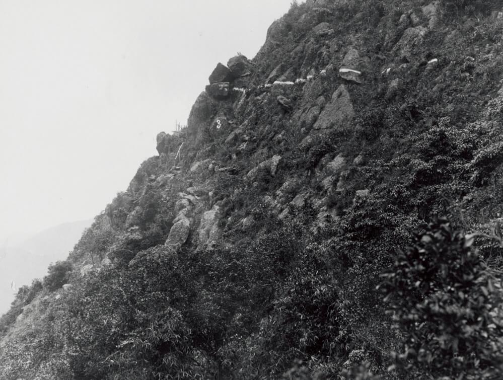 當年工務局年報指,盧吉道的工程艱巨,進度亦普通,因山禿陡峭,大雨時必須停工。(圖片由受訪者提供)