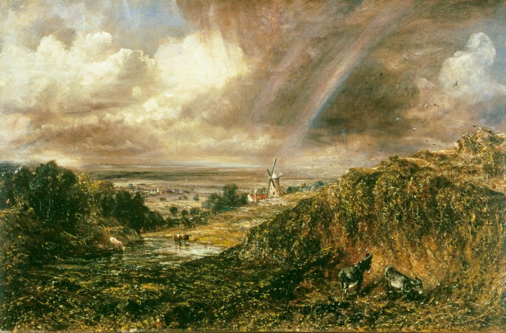 約翰.康斯塔伯,《漢普斯特德荒野的彩虹》,1836 © Tate