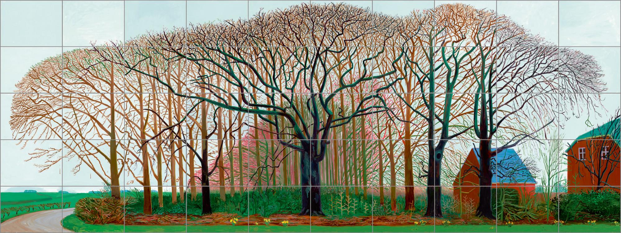 大衛.霍克尼,《華特附近的巨樹羣(又名後攝影時代的戶外寫生)》,2007© David Hockney