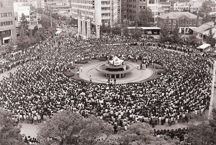 1987年1月的光州民主運動(網上圖片)