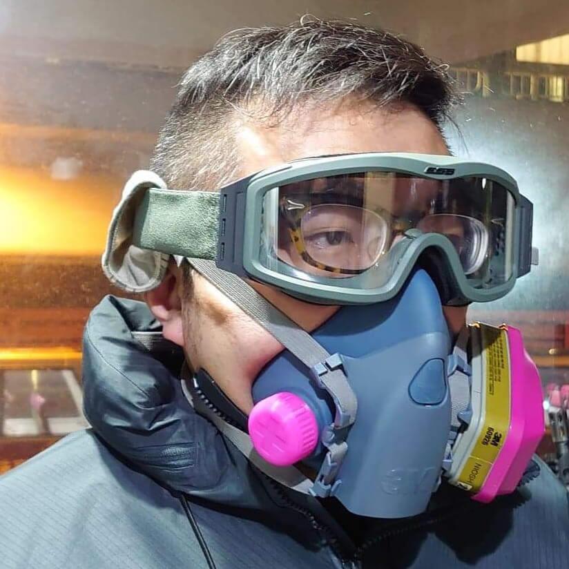 Alan指只用單邊灑罐或濾棉來呼吸與雙咀沒有大分別。