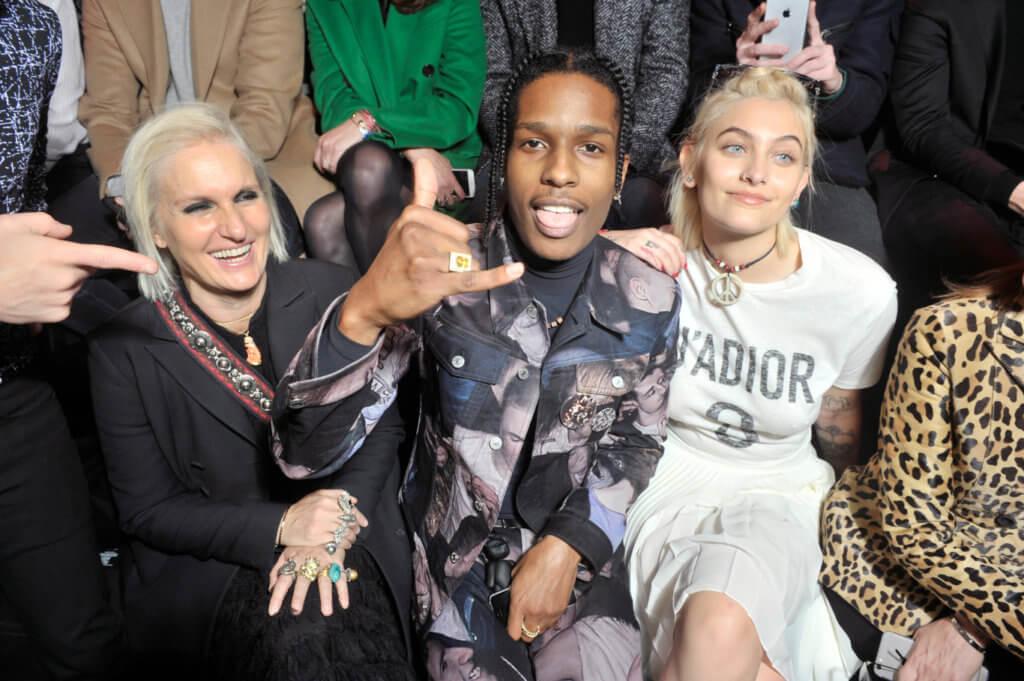 Maria Grazia Chiuri, A$AP Rocky and Paris Jackson