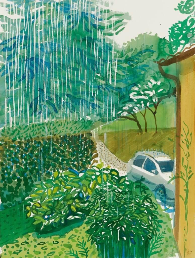 David Hockney, Lake House, Como, Rain, 2003, Sotheby's
