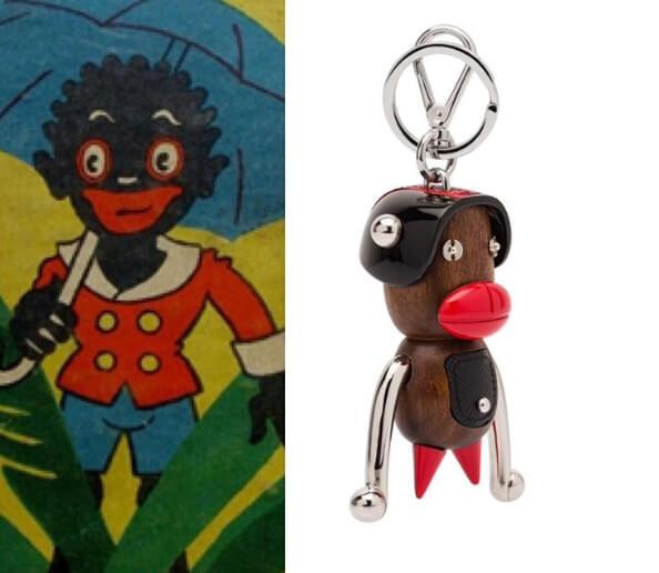 Prada推出一款讓大眾想起十九世紀「塗黑臉」(Blackface)遊戲的「Otto 猴」吊飾,被指歧視黑人。