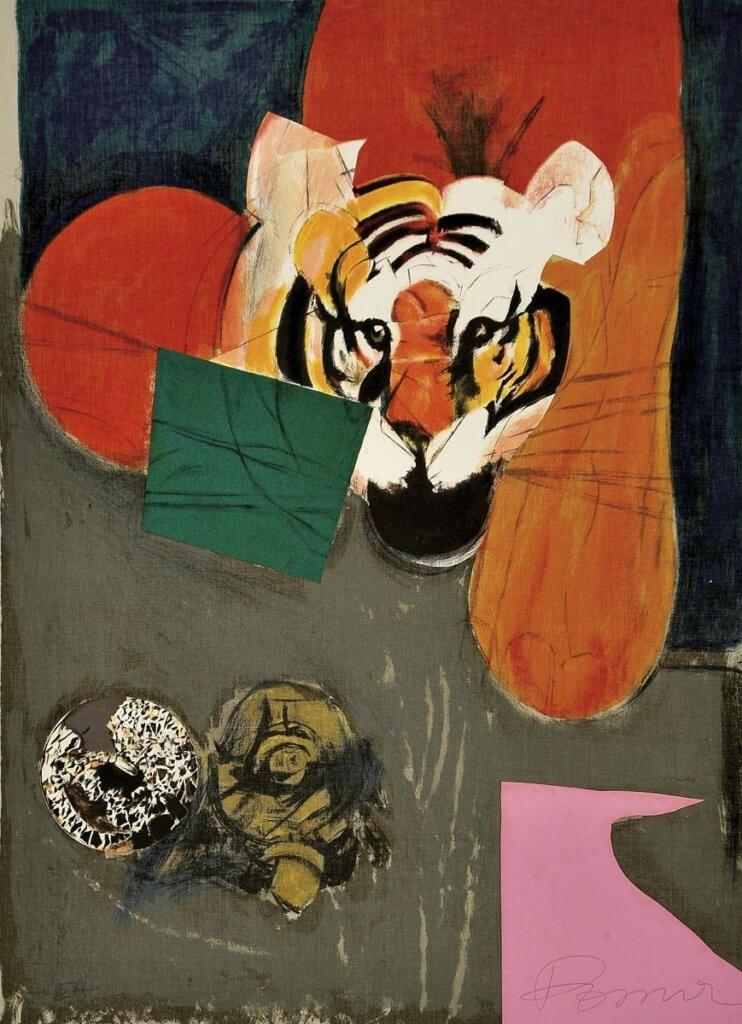 來自藝術家Julio Pomar 的老虎畫作。