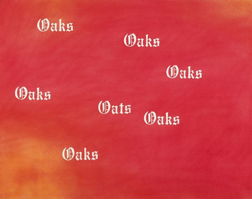 Ed Ruscha, Oaks, Oats, 1977, Sotheby's
