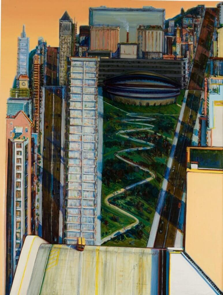 Wayne Thiebaud, Civic Center, 1986, Sotheby's