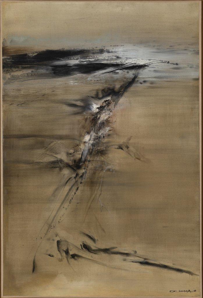 潘雅德期待,在Villepin畫廊的首場展覽中,能講述他一家與已故畫家趙無極的深厚友誼。圖為趙無極的油畫《10.05.62》,繪於1962年。
