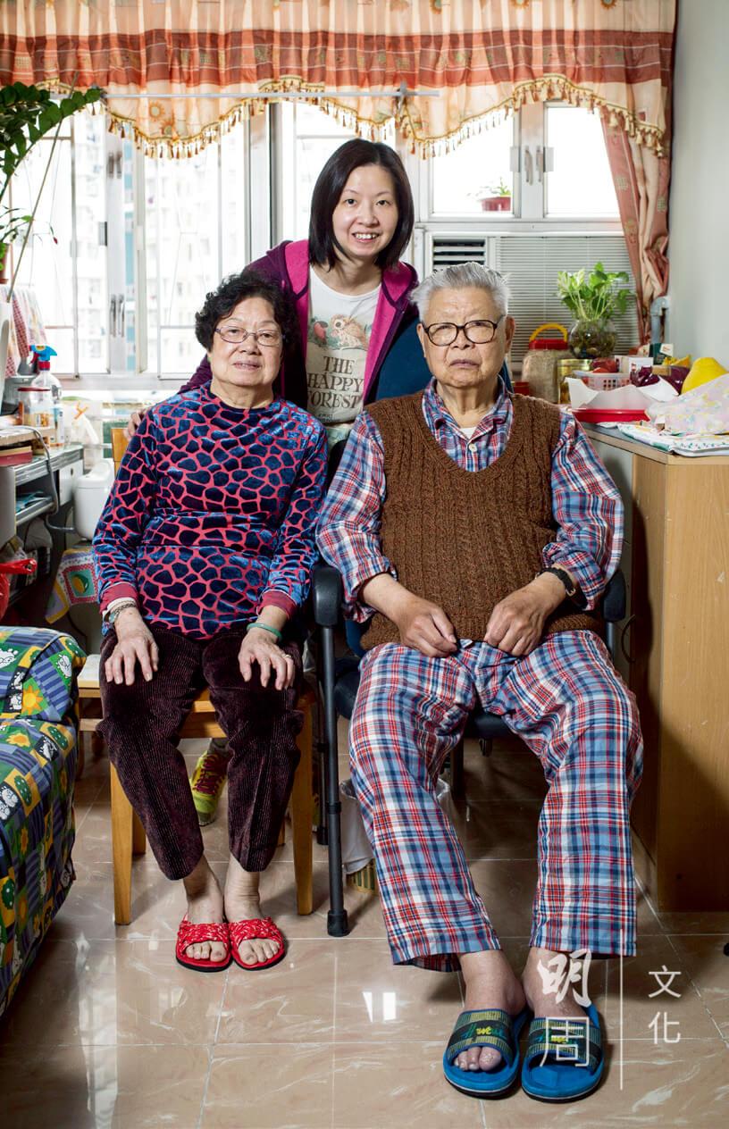 蕭先生一家十分高興出院後可以安然在家生活。
