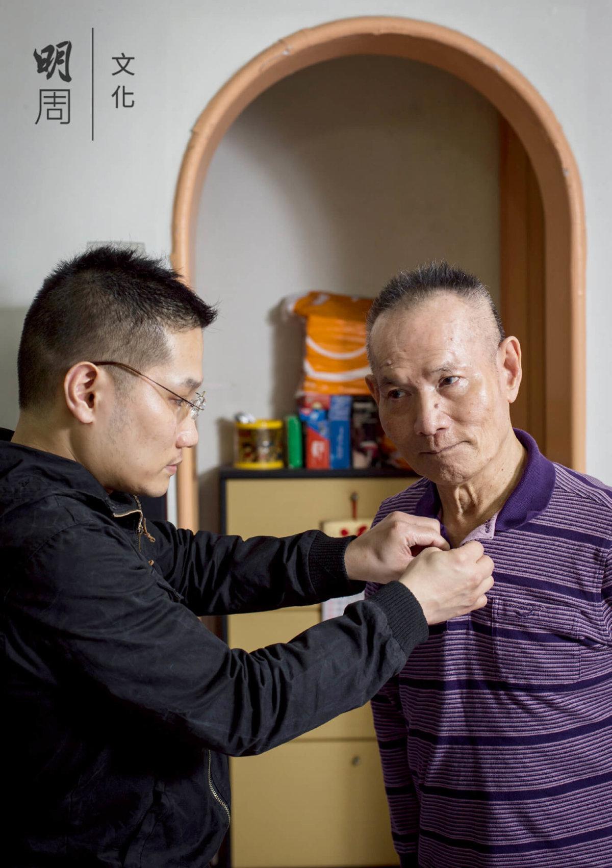 陳偉豪在照顧父親過程中變得愈來愈細心