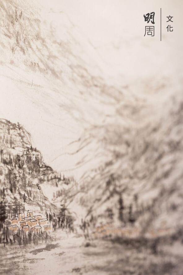 蘇思棣畫作,鹿頸2012年 《天光雲影共徘徊》。