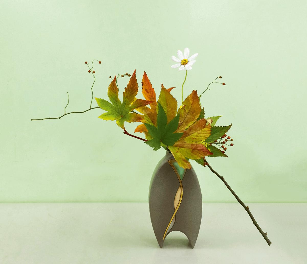 表現秋天風情的自由花,梁偉怡作品。(圖片由受訪 者提供)